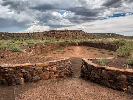 pueblo: Wupatki pueblo ruins  National Monument, Arizona USA