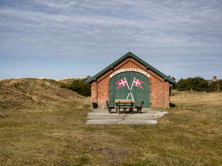 life saving: Life saving station on Mando, Denmark