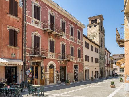 Main street in ceramic city of Deruta in Umbria, Italy