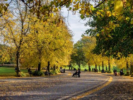 greenwich: Public park in Greenwich Village, London UK Stock Photo