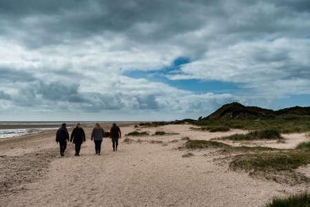 wadden: Beach in Sonderho at Fanoe in Denmark where the wadden sea just begins