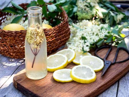 cordial: Elderflower juice and all the ingredients