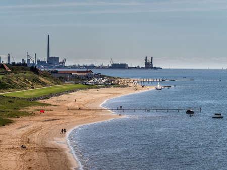 esbjerg: Offshore harbor in Esbjerg seen form Hjerting, Denmark