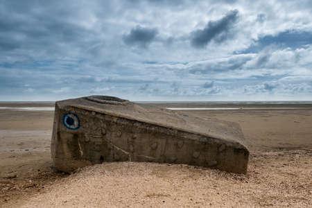 world war 2: World war 2 bunker on Fanoe at the Danish North Sea coast Stock Photo