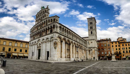 san michele: San Michele in Foro medieval church in Lucca. Tuscany, Italy