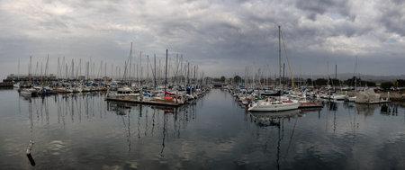 wharf: Montereys Fishermans Wharf harbor in California Editorial