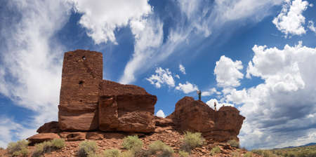 anasazi ruins: Wukoki Ruins complex in Wupatki national monument, Arizona USA