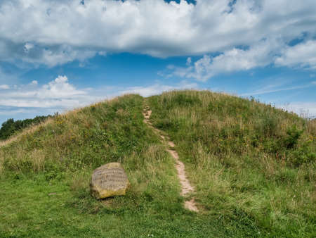 Bronze age Burial mound of the Danish Egtved girl Stock Photo