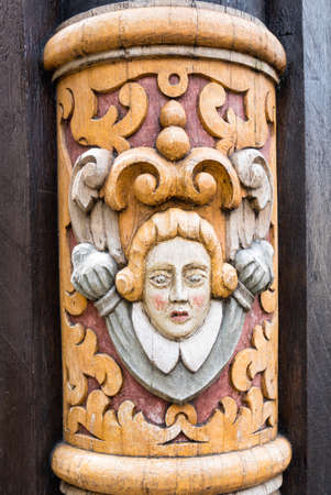 Old house detail on the manin square in Hildesheim, Germany