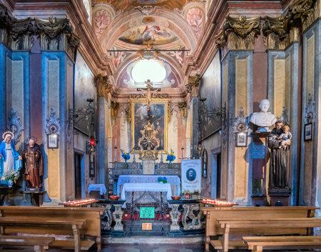 orta: Interior of the Chiesa di san Rocco in Orta san Giulio, Italy