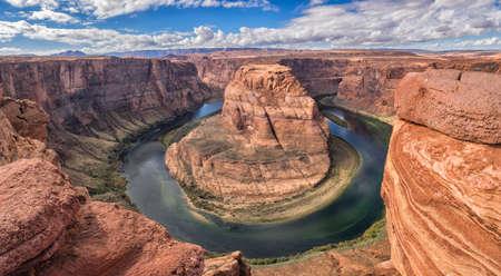 page arizona: Horseshoe Bend in Page, Arizona USA Stock Photo