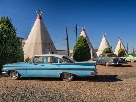 Wigwam hotel on Route 66 in Holbrook Arizona, USA