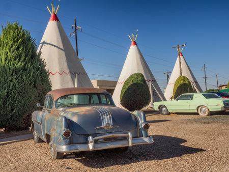 Wigwam hotel on Route 66 in Holbrook Arizona, USA
