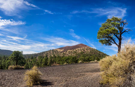 flagstaff: Sunset Crater National Monument near Flagstaff, Arizona USA