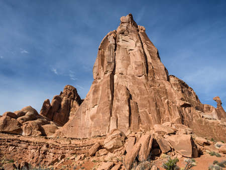 monolith: Cathedral Rock in Capitol Reef national monument, Utah USA