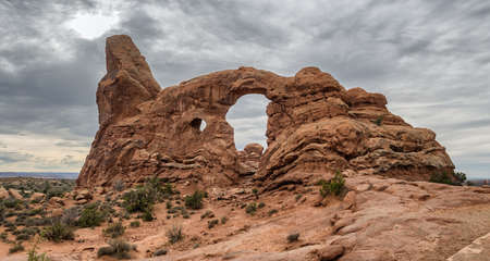north window arch: Turret Arch in Arches National Monument, Utah USA