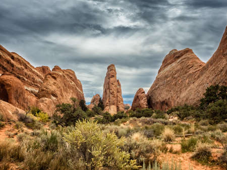 national scenic trail: Arches National Monument Devils Garden, Utah USA