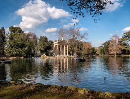 emple of Aesculapius in Villa Borghese Gardens, Rome Italy