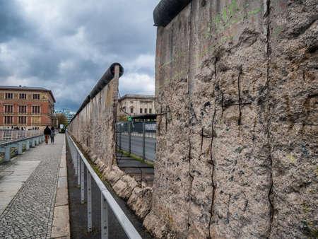 베를린, 독일에있는 벽의 잔존물 기념관