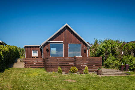 esbjerg: Rustic holiday homes in Sjelborg near Esbjerg, Denmark Stock Photo