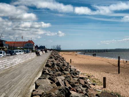 Beach promenade in Hjerting Esbjerg, Jutland Denmark