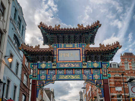 China Town entrance portal in London, UK