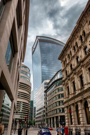 meets: Old meets new in London city, UK Stock Photo