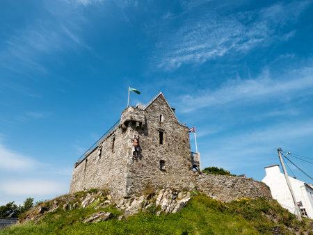 Pirate castle in Baltimore harbor in Ireland