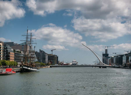 Docklands at the river Liffey in Dublin, Ireland