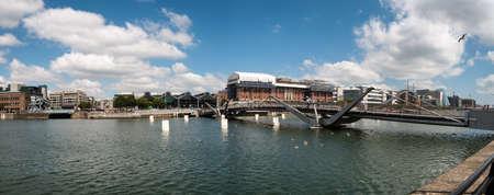 Sean Ocasey bridge over river Liffey in Dublin, Ireland