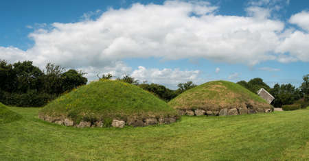 Knowth Neolithic smaller Mounds, Ireland Stock Photo