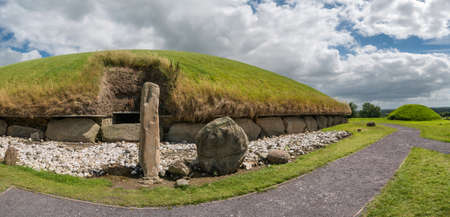 Knowth Neolithic Mound Western Passage Tomb in Ireland