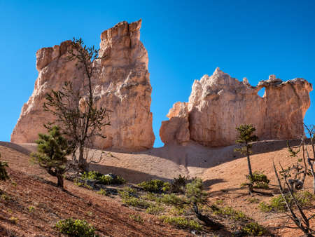 Bryce Canyon hoodoos Peek-a-boo trail, Utah USA Stock Photo