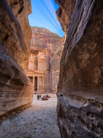 The Shrine in Petra seen from the gorge, Jordan