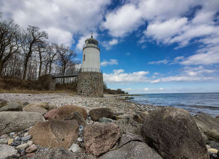 Taksensand lighthouse on the island of Als in southern Denmark