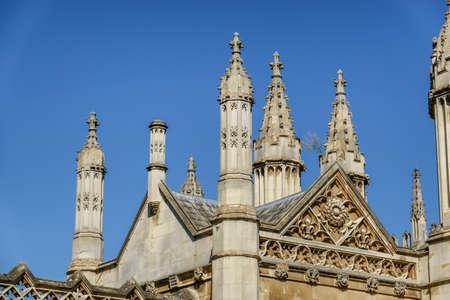 Kings college chapel Cambridge, UK Фото со стока