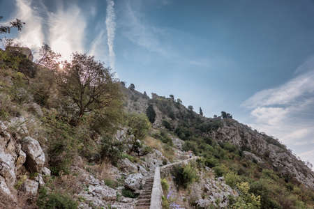 Top of the fortress in Kotor, Montenegro Reklamní fotografie