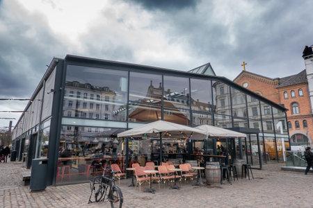 Torvehallerne farmers market in Copenhagen, Denmark