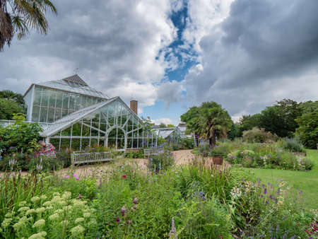 Cambridge botanic garden greenhouses, England