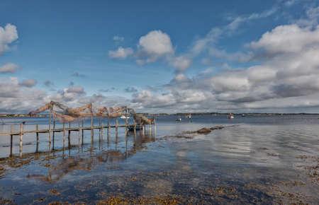 Small Jetty pier near Egernsund at Gendarmstien, Denmark