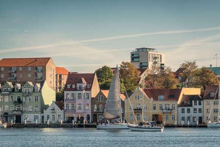 Soenderborg panorama of the old city in southern Jutland Denmark