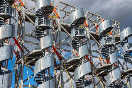 Spiral stairways made for wind power statiins, Esbjerg harbor, Denmark