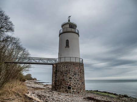 Taksensand lighthouse on the island of Als in southern Denmark Stock fotó