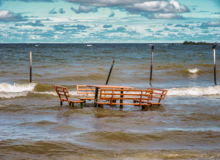 Lake Victoria deserted beach near Entebbe, Uganda Banco de Imagens