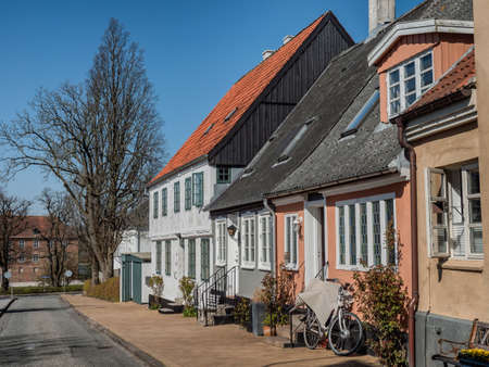 Traditional home in Hoeruphav on the island Als, Denmark