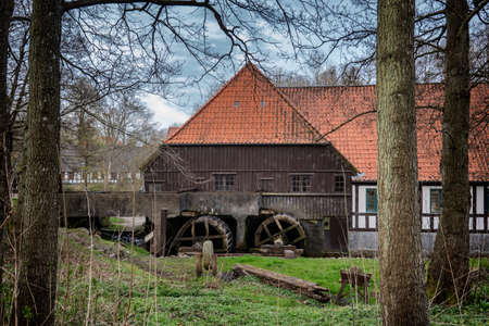 Old watermill in Boerkop, Denmark Banque d'images