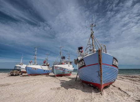 Coastal cutters at Thorup beach in the western part of Denmark
