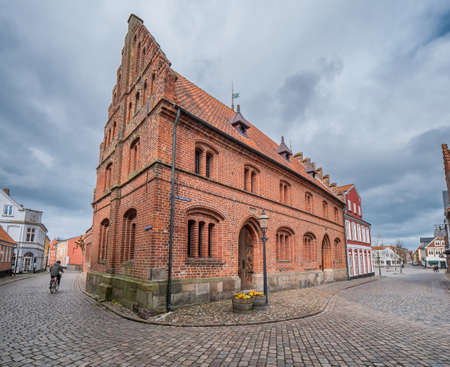 The old town hall in Medeival city of Ribe, Denmark