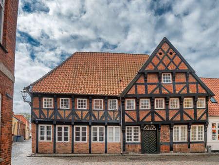 Half timbered old house in Ribe, Denmark Reklamní fotografie