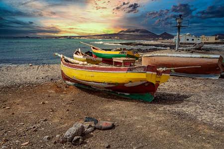 Panorama over Isla Sao Vicente on Cape Verde ISLANDAS Stock Photo